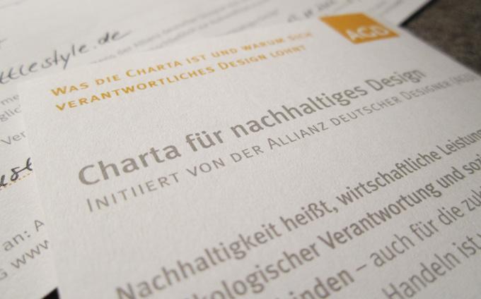 AGD Charta für Nachhaltigkeit