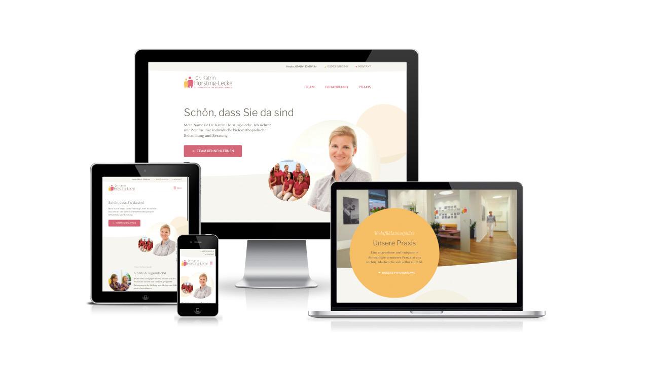 alittlestyle-Portfolio: KFO Neuenkirchen Webdesign