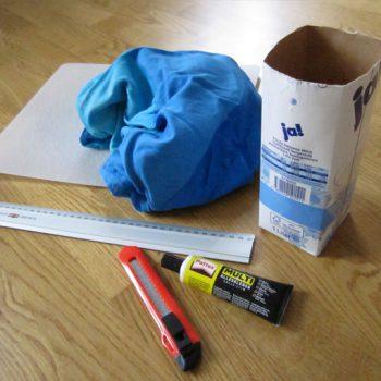 DIY Recycling: Kleinkram-Box - Schritt 1