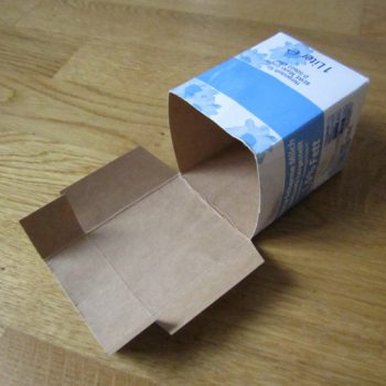 DIY Recycling: Kleinkram-Box - Schritt 2