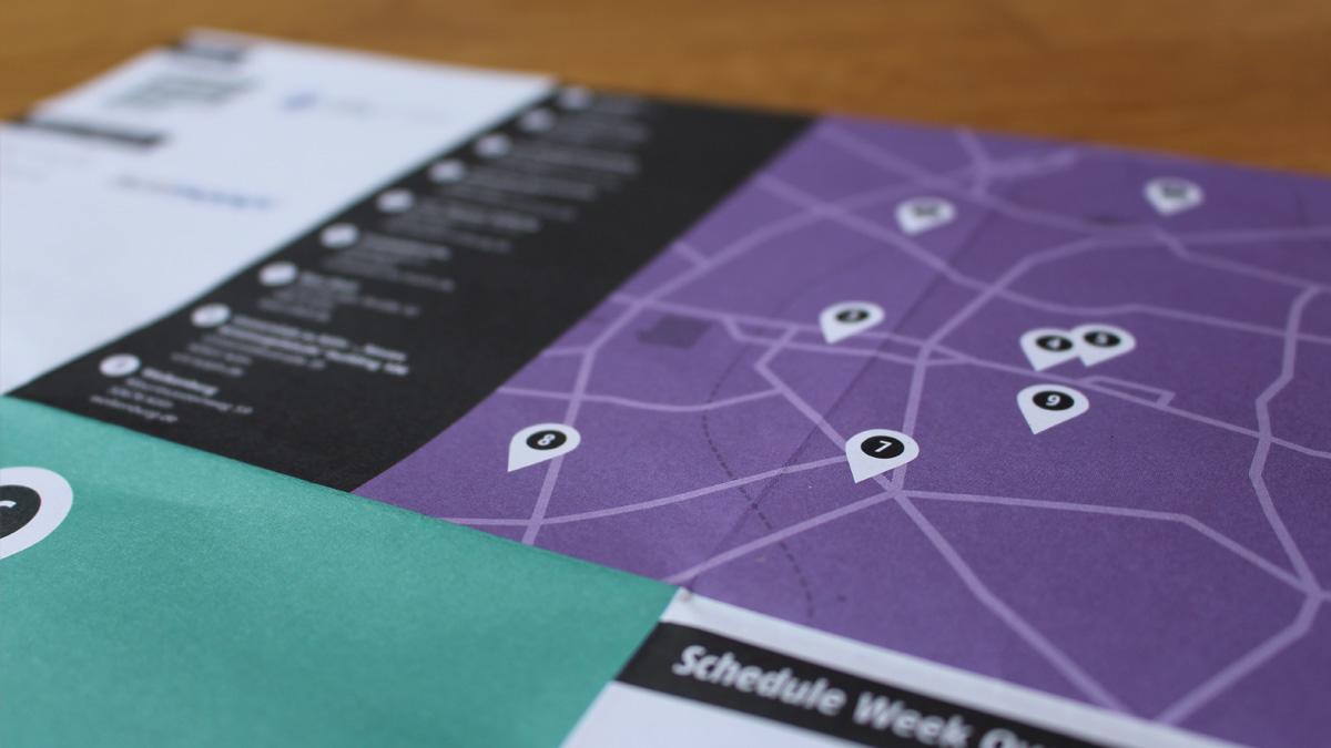 Interactive cologne festival for Grafikdesign koln