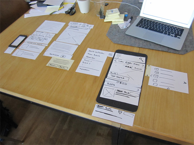 Mobile Paper Prototyping - Wireframing